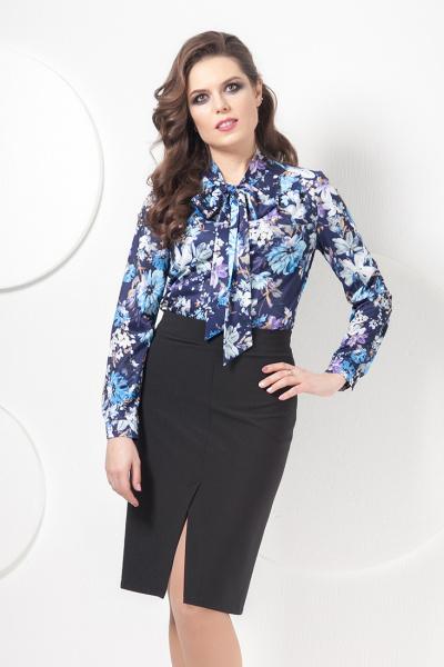 Блуза с ярким принтом Б-0175/9