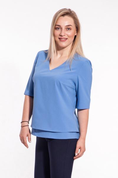 Блуза с V-образным вырезом Б-192